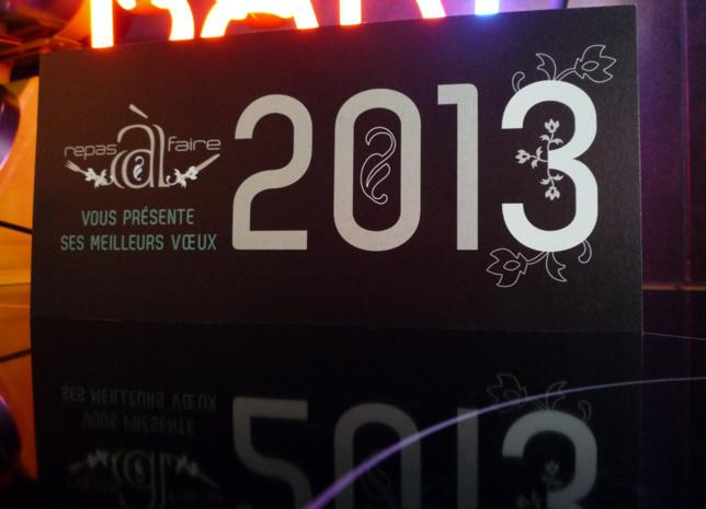 Repas à Faire vous présente ses meilleurs vœux 2013